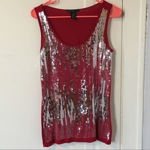 Sequins-front tank
